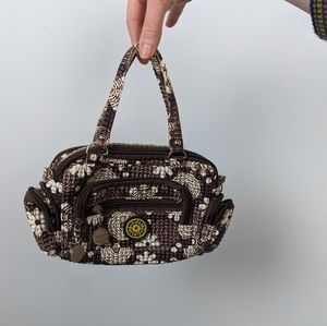 Kipling Textured Floral Print Mini Bag Wallet